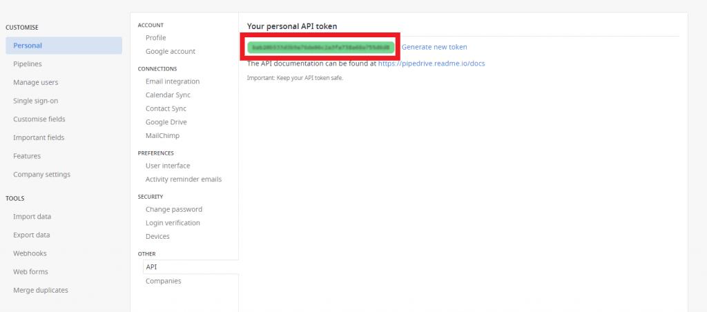 Miten saada Activecampaign API token