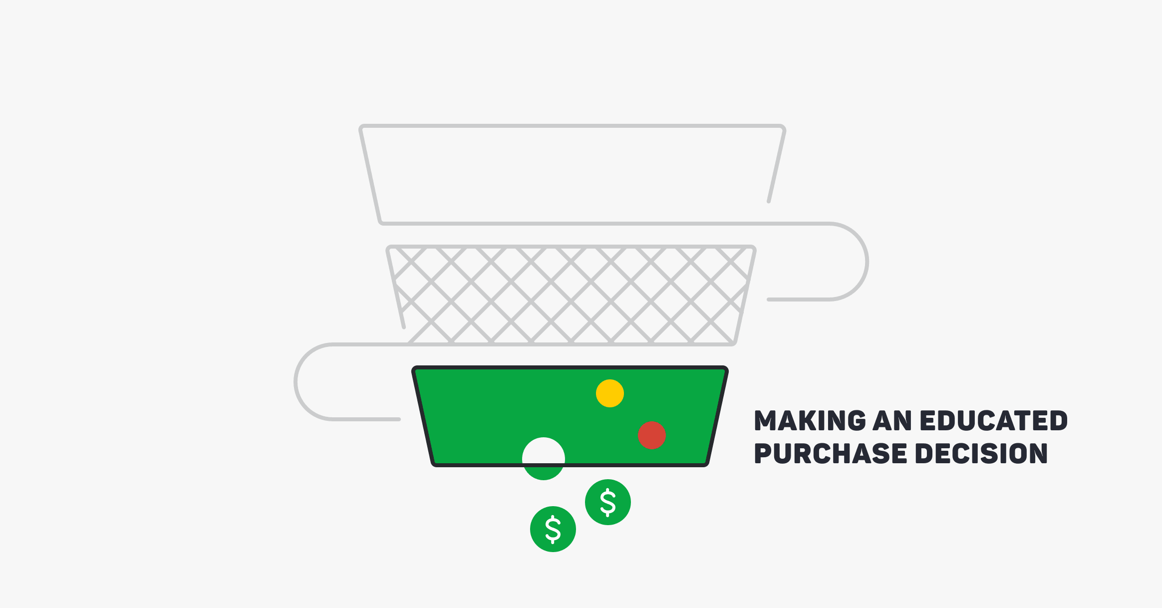 Myyntisuppilo johtaa kauppoihin.